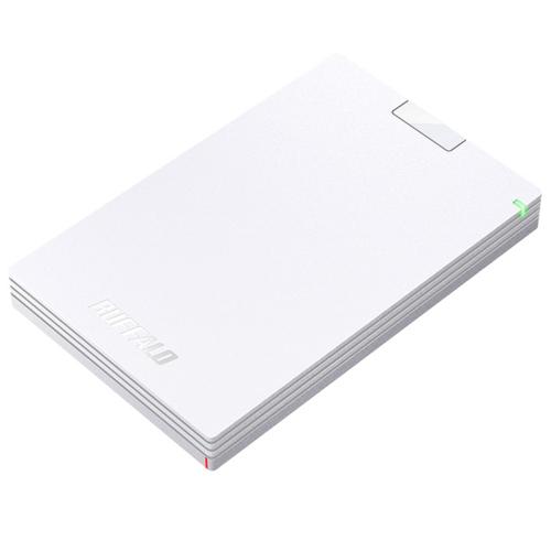 バッファロー HD-PGAC2U3-WA(ホワイト) USB Type-C & USB Type-A ケーブル付属 ポータブルHDD 2TB