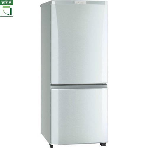 【設置+リサイクル】三菱 MR-P15E-S(シャイニーシルバー) Pシリーズ 2ドア冷蔵庫 右開き 146L