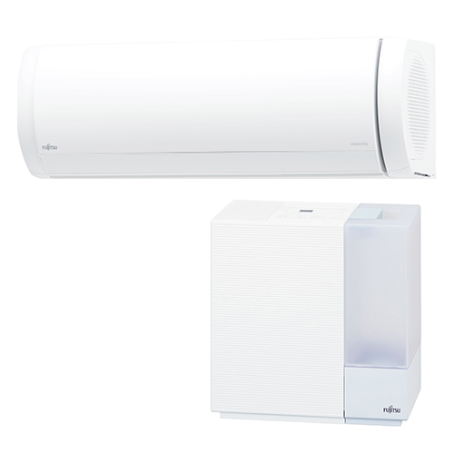 【工事料金別】【長期保証付】富士通ゼネラル AS-XW56K2-W(ホワイト) nocria(ノクリア) XWシリーズ 18畳 電源200V 加湿器セットモデル[代引・リボ・分割・ボーナス払い不可]