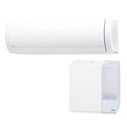 【工事料金別】【長期保証付】富士通ゼネラル AS-XW71K2-W(ホワイト) nocria(ノクリア) XWシリーズ 23畳 電源200V 加湿器セットモデル[代引・リボ・分割・ボーナス払い不可]