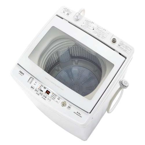 アクア AQW-GV80J-W(ホワイト) 全自動洗濯機 上開き 洗濯8kg