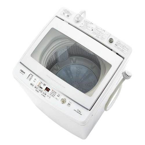 アクア AQW-GV70J-W(ホワイト) 全自動洗濯機 上開き 洗濯7kg