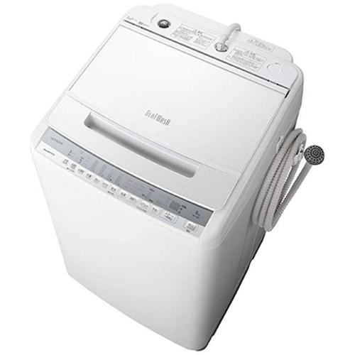 【設置】日立 BW-V80F-W(ホワイト) 全自動洗濯機 ビートウォッシュ 上開き 洗濯8kg