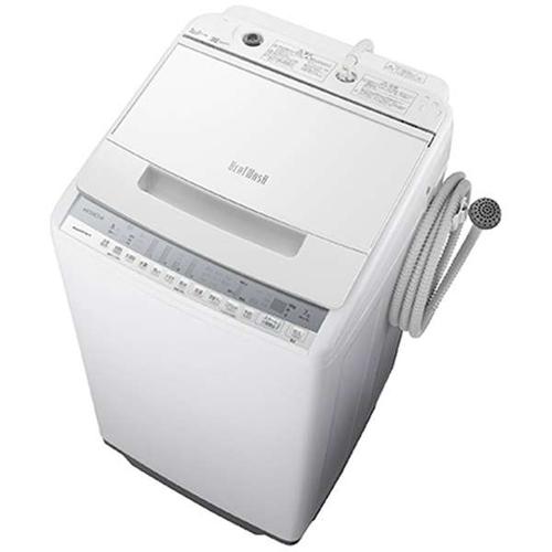 【設置】日立 BW-V70F-W(ホワイト) 全自動洗濯機 ビートウォッシュ 上開き 洗濯7kg