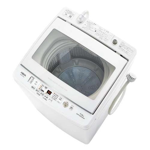 【設置】アクア AQW-GV70J-W(ホワイト) 全自動洗濯機 上開き 洗濯7kg