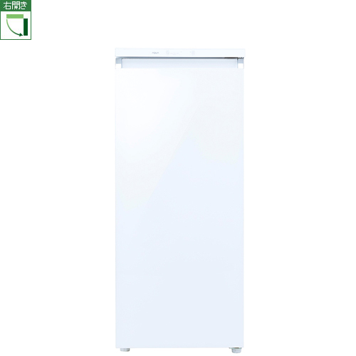 【設置+長期保証】アクア AQF-GS13J-W(クリスタルホワイト) 1ドア冷凍庫 右開き 134L