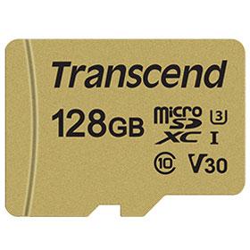 トランセンド TS128GUSD500S microSDXCカード 128GB CLASS10