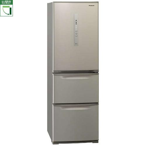 【標準設置料金込】【送料無料】パナソニック NR-C371N-N(シルキーゴールド) 3ドア冷蔵庫 右開き 365L[代引・リボ・分割・ボーナス払い不可]