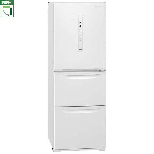【標準設置料金込】【長期保証付】【送料無料】パナソニック NR-C341C-W(ピュアホワイト) 3ドア冷蔵庫 右開き 335L[代引・リボ・分割・ボーナス払い不可]