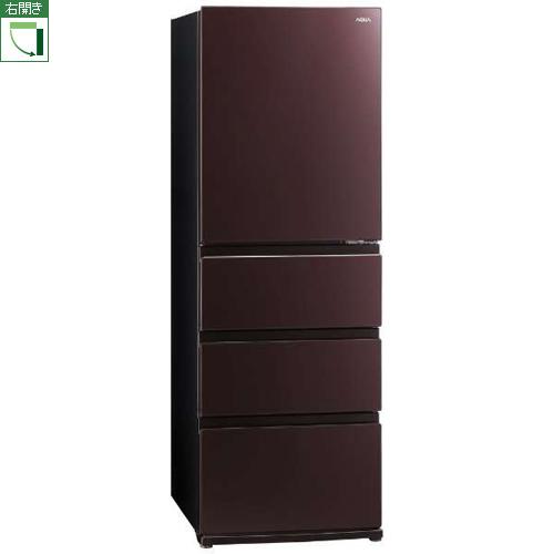 【標準設置料金込】【送料無料】アクア AQR-VZ43J-T(クリアモカブラウン) 4ドア冷蔵庫 右開き 430L[代引・リボ・分割・ボーナス払い不可]