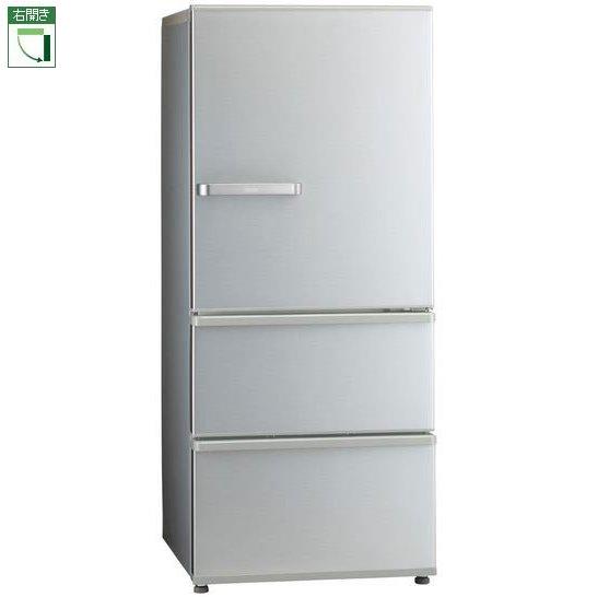 【標準設置料金込】【送料無料】アクア AQR-27J-S(ミスティシルバー) 3ドア冷蔵庫 右開き 272L[代引・リボ・分割・ボーナス払い不可]