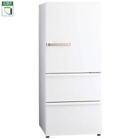 【標準設置料金込】【送料無料】アクア AQR-27J-W(ウォームホワイト) 3ドア冷蔵庫 右開き 272L[代引・リボ・分割・ボーナス払い不可]