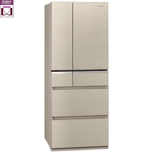 【標準設置料金込】【送料無料】パナソニック NR-F476XPV-N(マチュアゴールド) 6ドア冷蔵庫 観音開き 470L[代引・リボ・分割・ボーナス払い不可]