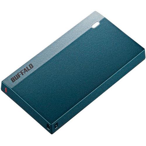 バッファロー SSD-PSM480U3-MB(モスブルー) 外付SSD 480GB USB 3.2(Gen1) 接続 耐衝撃