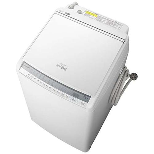 【標準設置料金込】【送料無料】日立 BW-DV80F-W(ホワイト) 縦型洗濯乾燥機 ビートウォッシュ 上開き 洗濯8kg/乾燥4.5kg[代引・リボ・分割・ボーナス払い不可]