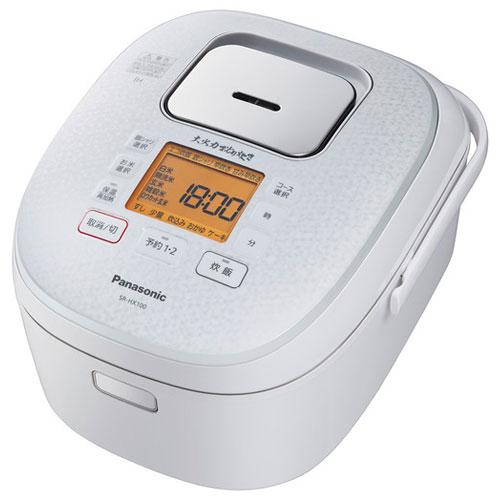 【長期保証付】パナソニック SR-HX100-W(スノーホワイト) IHジャー炊飯器 5.5合