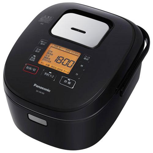 【長期保証付】パナソニック SR-HB100-K(ブラック) IHジャー炊飯器 5.5合