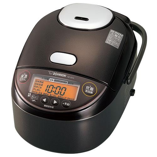 【長期保証付】象印 NP-ZU18-TD(ダークブラウン) 極め炊き 圧力IH炊飯ジャー 1升