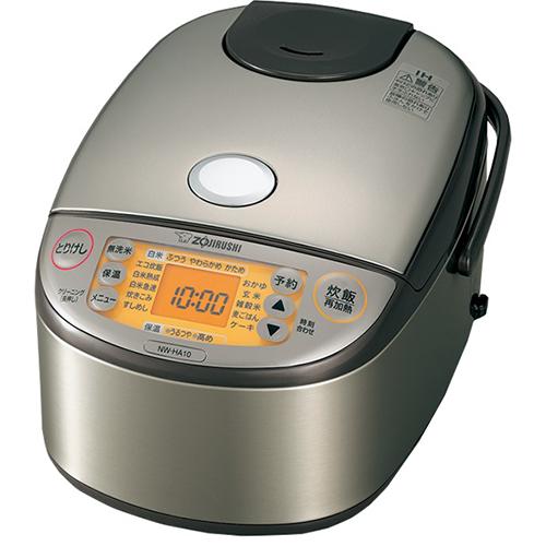 長期保証付 象印 格安店 NW-HA10-XA ステンレス 交換無料 IH炊飯ジャー 5.5合 極め炊き