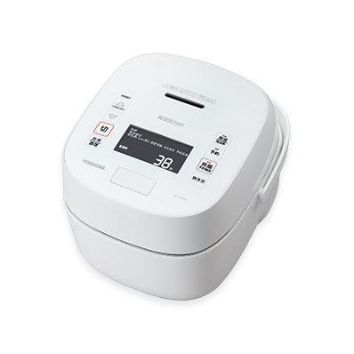 【長期保証付】東芝 RC-10VXP-W(ホワイト) 炎匠炊き 真空圧力IHジャー炊飯器 5.5合