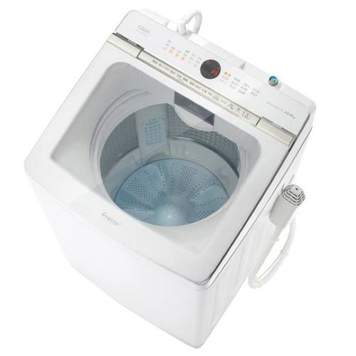 【標準設置料金込】【長期保証付】【送料無料】アクア AQW-GVX100J-W(ホワイト) Prette 全自動洗濯機 上開き 洗濯10kg[代引・リボ・分割・ボーナス払い不可]