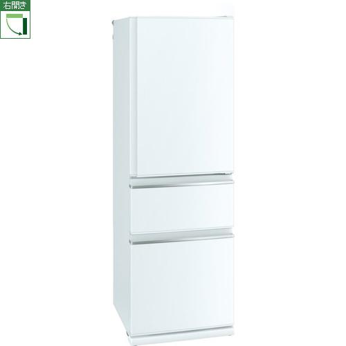 【標準設置料金込】【】三菱 MR-CX37F-W(パールホワイト) CXシリーズ 3ドア冷蔵庫 右開き 365L[代引・リボ・分割・ボーナス払い不可]:特価COM
