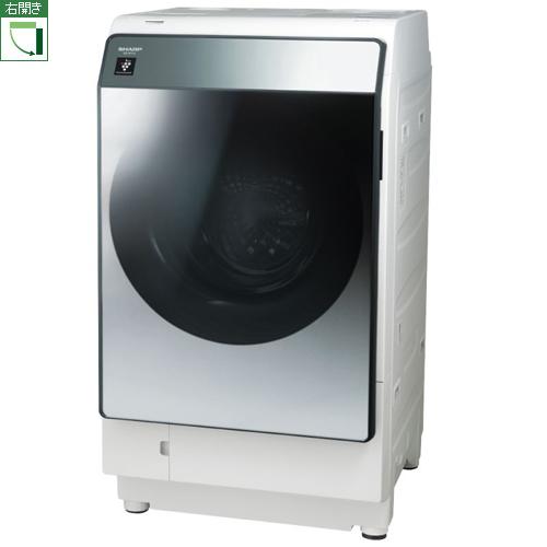 【標準設置料金込】【長期保証付】【送料無料】シャープ ES-W113-SR(シルバー系) 洗濯乾燥機 右開き 洗濯11kg/乾燥6kg[代引・リボ・分割・ボーナス払い不可]