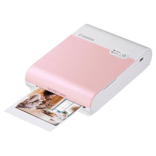 【長期保証付】CANON SELPHY SQUARE(セルフィースクエア) QX10PK(ピンク) ミニフォトプリンター