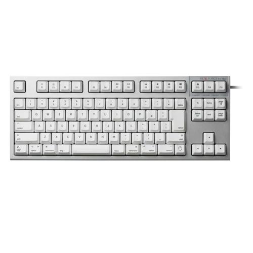 東プレ R2TL-JPVM-WH(シルバー/白) REALFORCE TKL for Mac 日本語91配列 昇華印字 変荷重