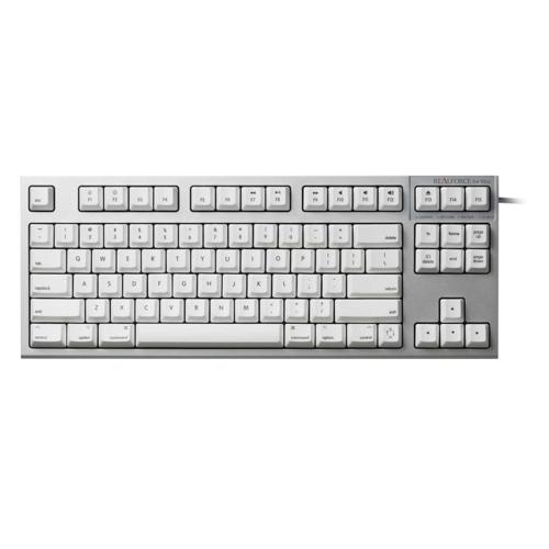 東プレ R2TL-USVM-WH(シルバー/白) REALFORCE TKL for Mac 英語86配列 昇華印字 変荷重