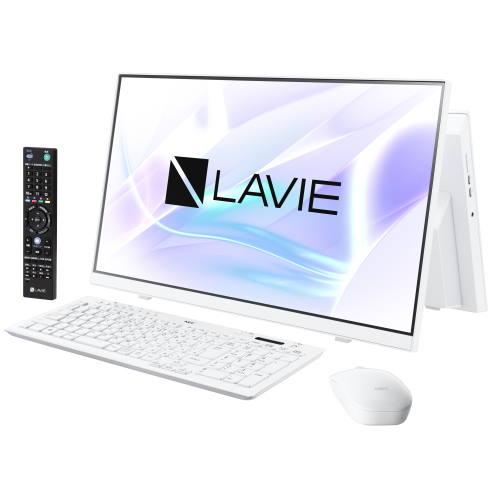 【長期保証付】NEC PC-HA770RAW(ファインホワイト) LAVIE HOME All-in-one 23.8型 TVチューナー搭載