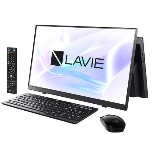 【長期保証付】NEC PC-HA770RAB(ファインブラック) LAVIE HOME All-in-one 23.8型 TVチューナー搭載