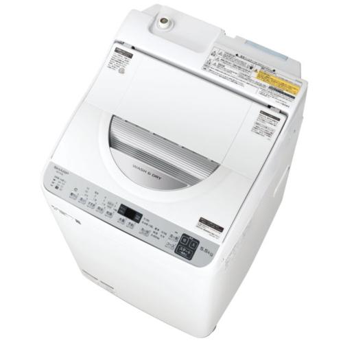 設置 在庫あり リサイクル 長期保証 シャープ ES-TX5E-S シルバー系 上開き 乾燥3.5kg オリジナル 縦型洗濯乾燥機 洗濯5.5kg