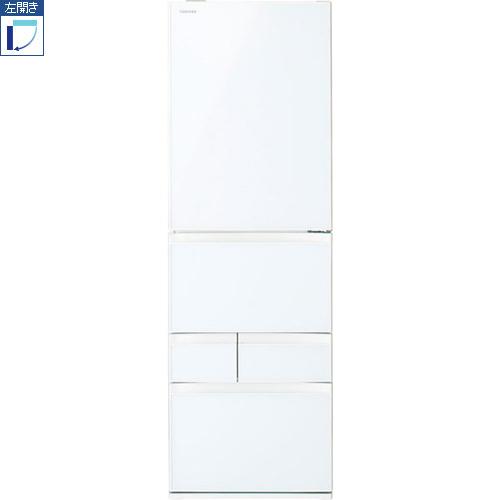 【標準設置料金込】【送料無料】東芝 GR-S41GXVL-EW(グランホワイト) 411L[代引・リボ・分割・ボーナス払い不可] 左開き GXVシリーズ 5ドア冷蔵庫