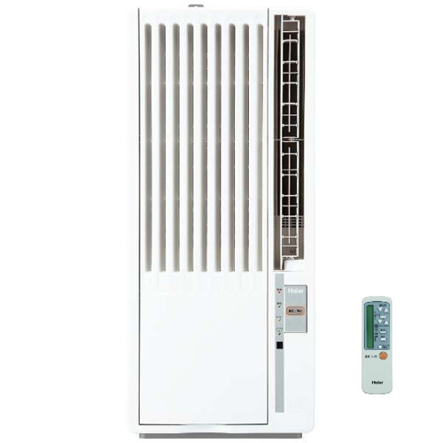 【設置+リサイクル+長期保証】ハイアール JA16V-W(ホワイト) ウインドウエアコン 窓用 冷房専用 マイナスイオン 木造4~4.5畳/鉄筋6~7畳