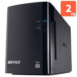 バッファロー HD-WL2TU3/R1J 外付HDD 2TB USB3.0接続 RAID対応 2ドライブ
