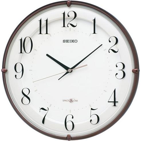 セイコー GP216B(茶メタリック) 衛星電波掛け時計