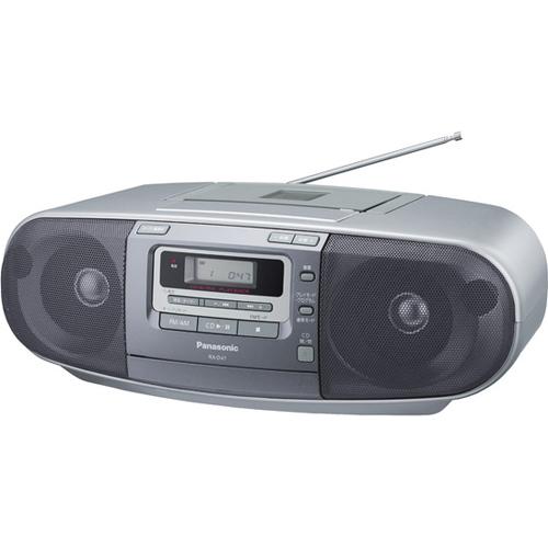 【長期保証付】パナソニック RX-D47-S(シルバー) ポータブルステレオCDシステム ワイドFM対応