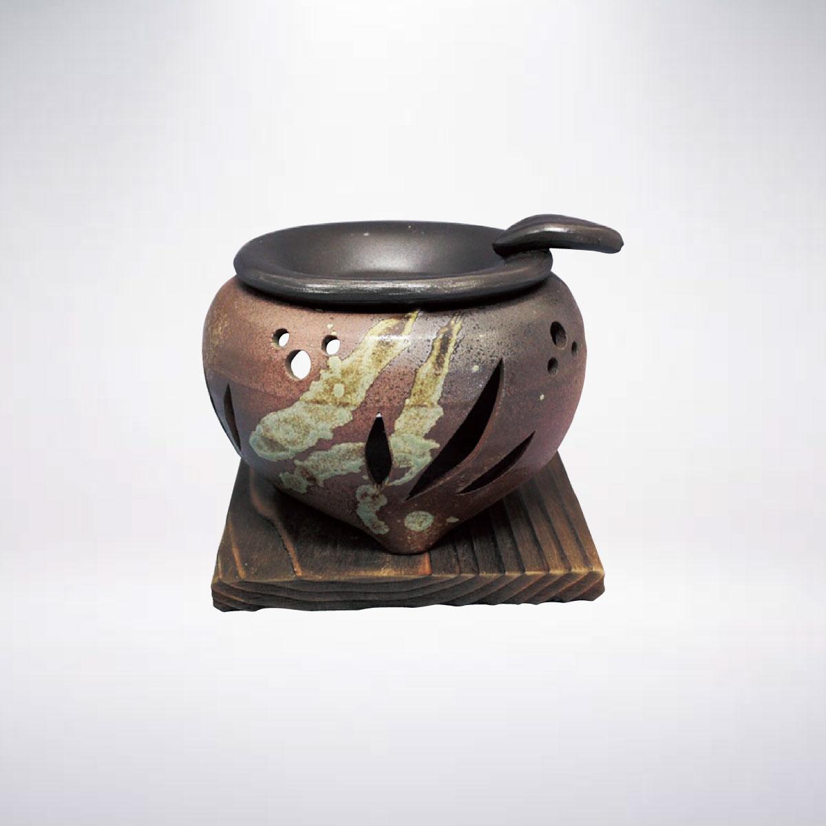 消臭 脱臭 効果あり間接照明としてのインテリアに 常滑焼 ロウソクタイプ茶香炉 アロマ 香料 癒し リラックス 間接照明 インテリア 雑貨 リラクゼーション 完全送料無料 陶器 茶葉 店内限界値引き中&セルフラッピング無料