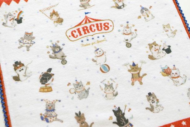 楽天市場 メール便対応可 ハンドタオル ネコがいっぱい Circus