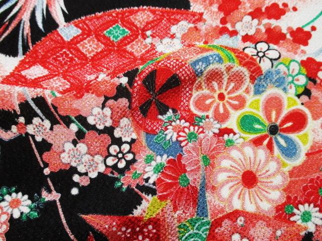 TOKOUAN: Yuzen Crepe Paper Crane former pattern (black ...
