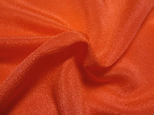 人形衣装 和装小物 小物などの制作に 和柄 生地 入荷予定 布 和柄生地 ちりめん 縮緬 鬼 プロ仕様 通販 10cm単位 布地 はぎれ ちりめん細工 秀逸 切り売り 和風 橙 つまみ細工布 つるし雛