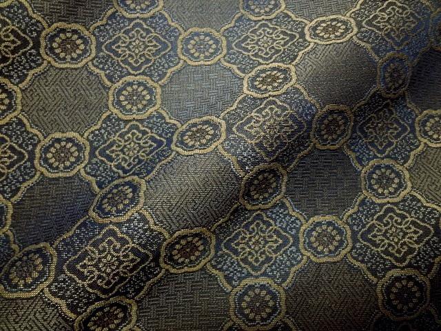 引き出物 表装 仕覆 衣装制作 など様々な用途に和柄 激安超特価 生地 布 和柄生地 どんす 緞子 貴船 布地 紺 10cm単位 和柄 変わり蜀江 和風 切り売り 通販 はぎれ
