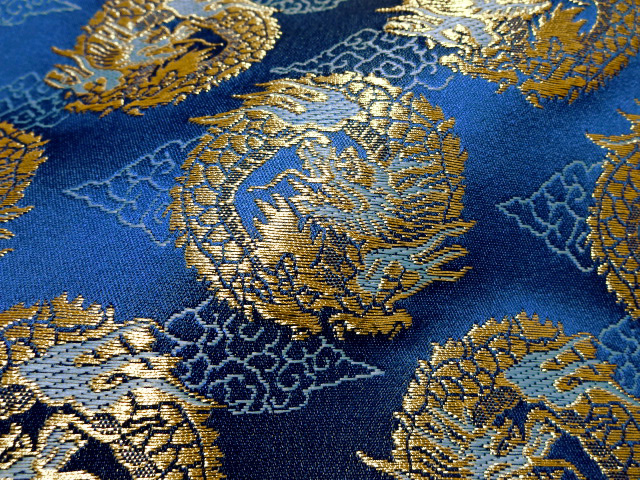Tokouan It Is Circle Dragon Blue The Clothes Cloth Handicrafts