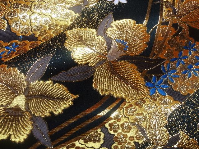 美しい金襴織物 衣装 和装 至上 小物などに和柄 生地 布 お得 和柄生地 金襴 金襴布 金襴生地 金襴織物 きんらん 10cm単位 金らん 切り売り 和柄 布地 黄金流水文に蘭 和風 よさこい 京都西陣織 通販 はぎれ