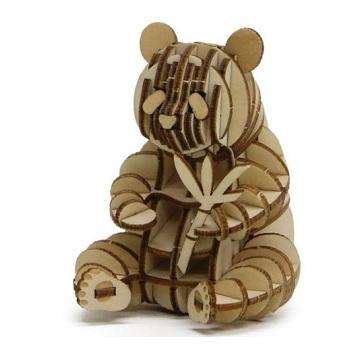 お子様のみならず 幅広い年齢の方へのプレゼントとしても最適です 木製で環境にやさしい 付与 驚きの値段 接着剤やハサミなどは不要 一枚板から簡単にパーツを抜き取る事ができます ジャイアントパンダ ki-gu-mi 送料無料