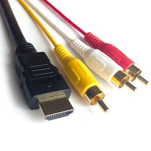 TAUWELL高品質 HDMI A M TO RCA3 金メッキ 変換ケーブル 爆売りセール開催中 1.5m ビデオ端子 テレビ コンポーネントケーブル メーカー直送