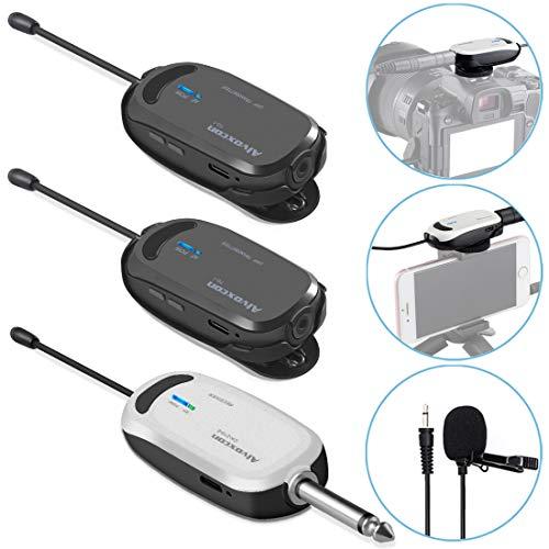 Alvoxcon ワイヤレスマイク ヘッドセット ピンマイク ワイヤレス UHF クリップマイク 無線マイク 動画撮影? 録音 拡声器 カメラ スマ