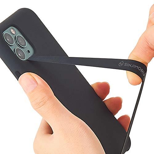 ハイクオリティ Sinjimoru 伸びるスマホストラップ iPhone 薄型ワイヤレス充電対応スマホ 年間定番 スマホケース対応シリコンフィンガーホルダー Android
