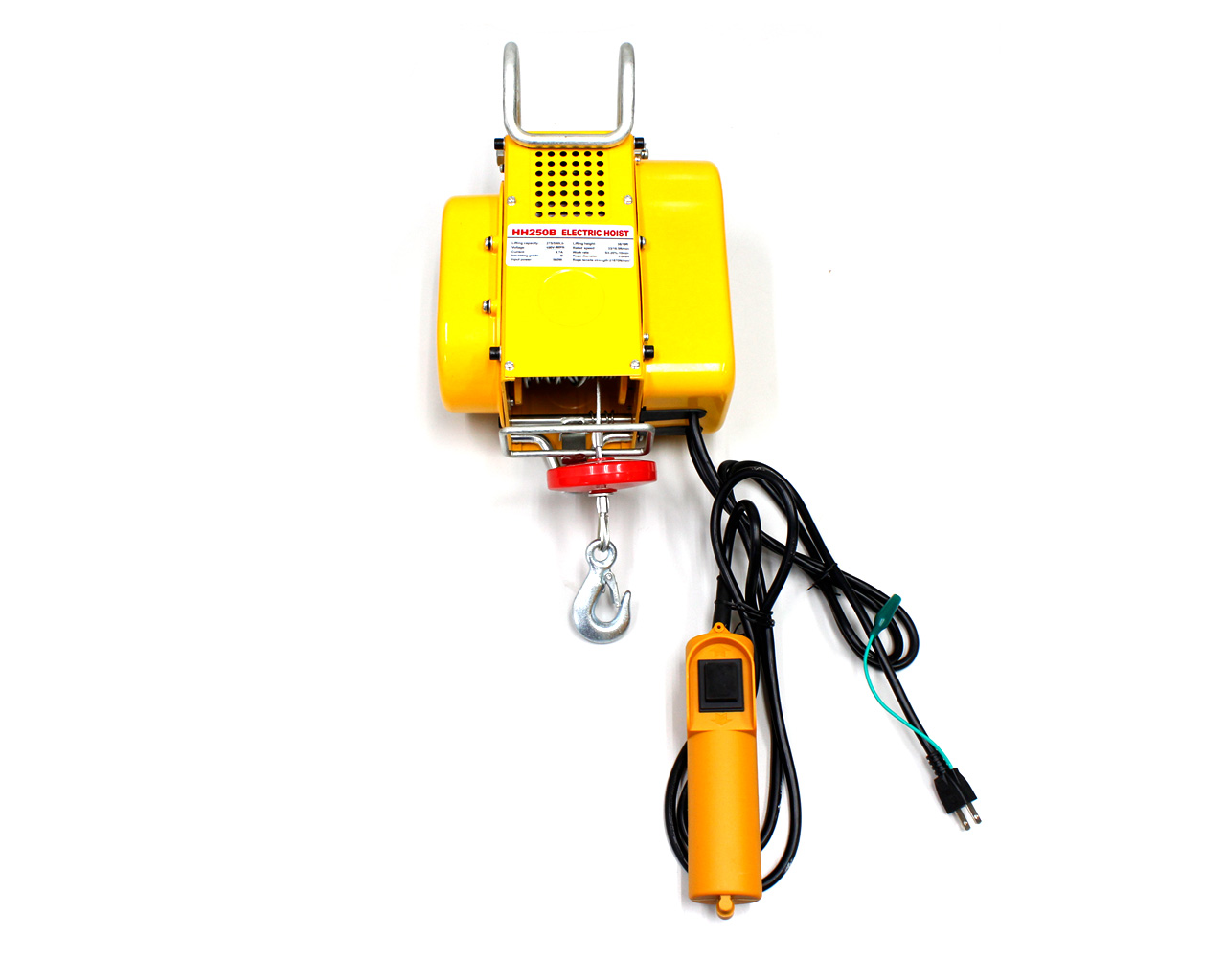 【スーパーSALE特価】家庭用100V60Hz電動ウインチ(ホイスト)(最大能力250kg)